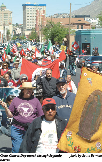 Cesar Chavez Day march through Segundo Barrio