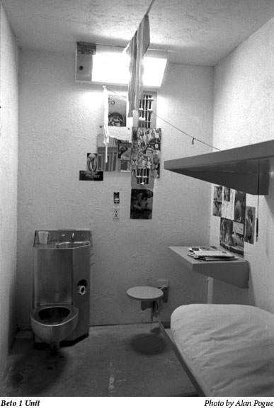 A prison cell - Beto 1 unit