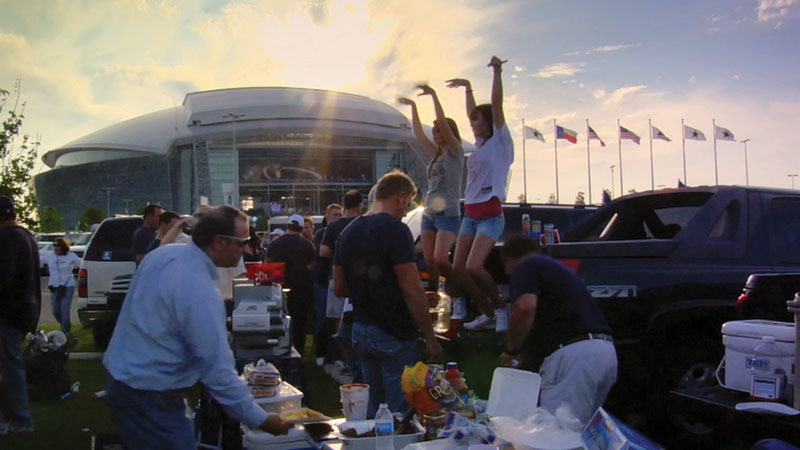 Tailgating scenes from Arlington.