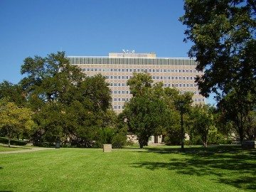 The Sam Houston State Office Building houses the State Ethics Commission offices.