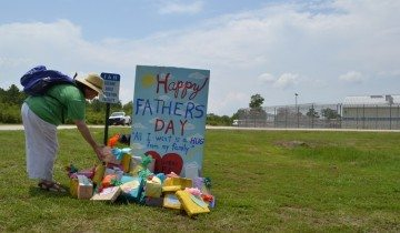 A Father's Day gift outside the Polk County facility
