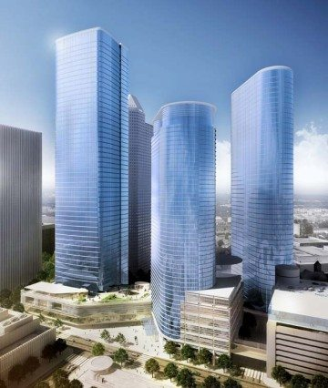 An artist's rendering of the Chevron office tower