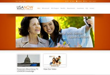 Screenshot of the USA Now website.