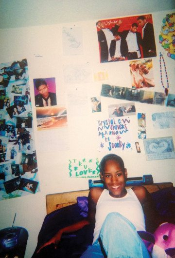 Bentley as a teenager, in her room at the Boys & Girls Harbor residential treatment facility in La Porte.