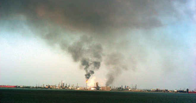 Fire at the Citgo Refinery in Corpus Christi on July 19, 2009.