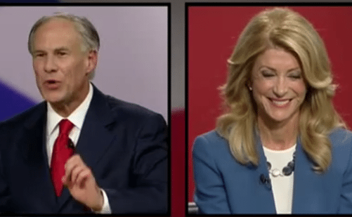 At the second of two governor's race debates, Wendy Davis seemed a great deal more relaxed and comfortable.