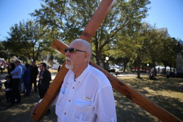 Joe Gaston will be carrying his cross around the capitol grounds for three days of prayer and fasting.