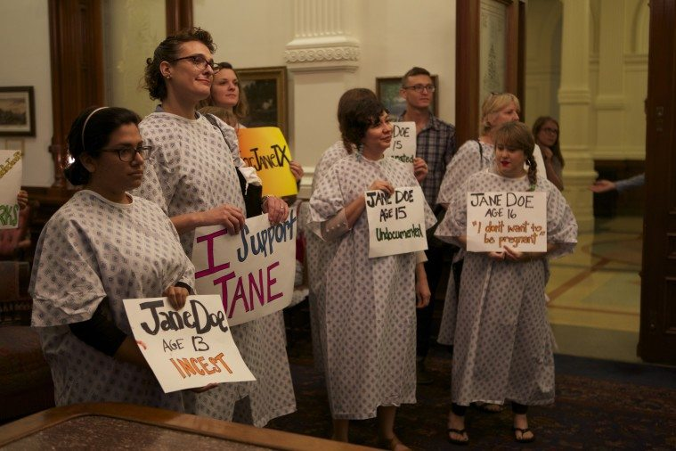 Reproductive rights activists gathered at the Capitol over the weekend to oppose a restrictive abortion bill that limits abortion access for vulnerable teens.