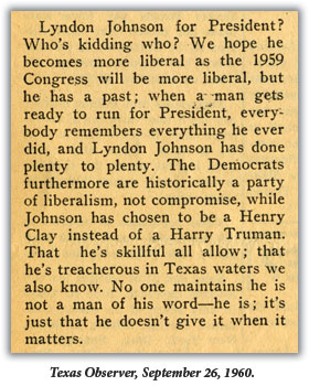 Lyndon Johnson for President? Whos kidding who?