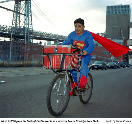 NOE REYES from the State of Puebla works as a delivery boy in Brooklyn New York, photo by Dulce Pinzon