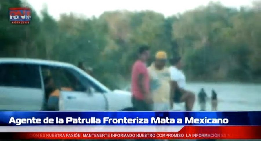 Screen grab of footage taken by witness of fatal shooting of Guillermo Arévalo Pedroza in September in Nuevo Laredo.