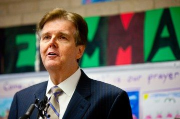 State Sen. Dan Patrick unveils a new plan for public education reform and school choice at Cathedral School of St. Mary's in Austin.