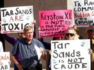 Anti-Keystone XL protesters in Austin