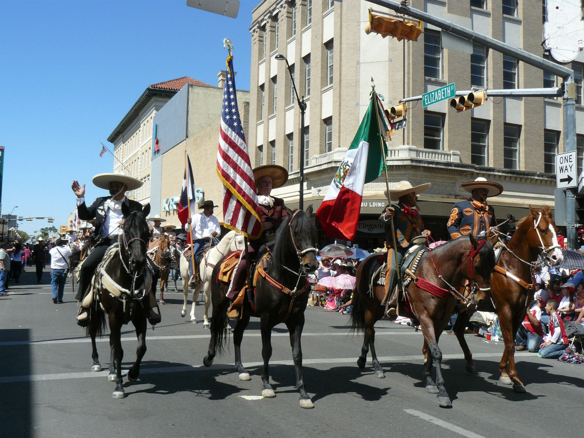 Charros with flags
