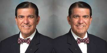 Onetime business-tax-credit proponent Eddie Lucio Jr. (D-Brownsville), left, and private school voucher skeptic Eddie Lucio Jr. (D-Brownsville).