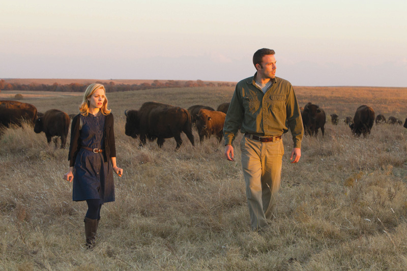 Rachel McAdams and Ben Affleck in To the Wonder.