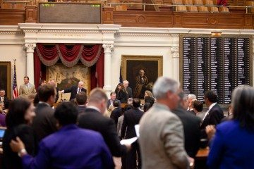 Texas House floor bill deadline night.