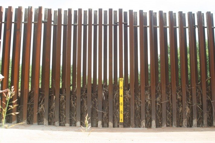 debris in San Pedro border wall August 2012 Scott Nicol-1