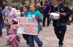 A march for immigration reform at the Texas Capitol.