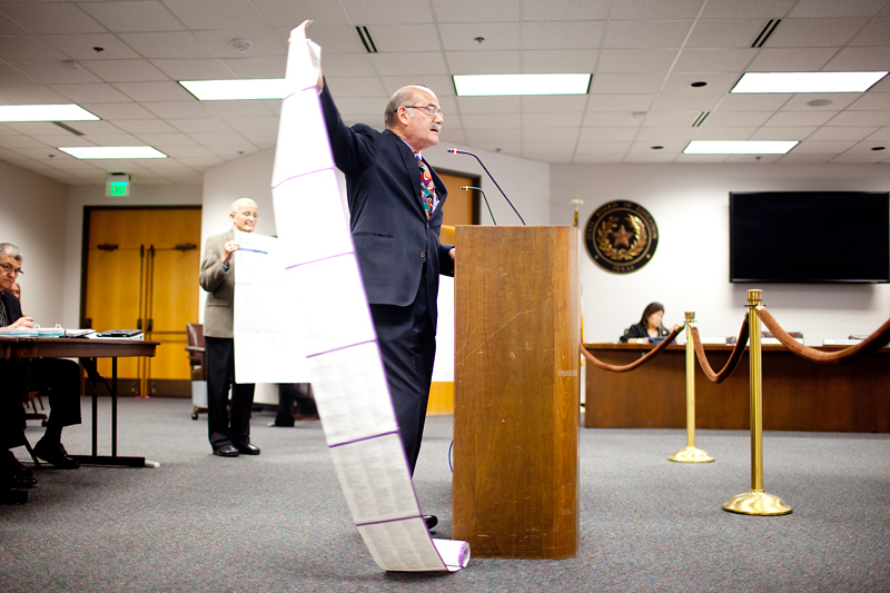 Former State Board of Education chairman Don McLeroy delivers a rousing commentary Tuesday afternoon, saying textbooks proposed for Texas schools will be a huge victory for creationism.
