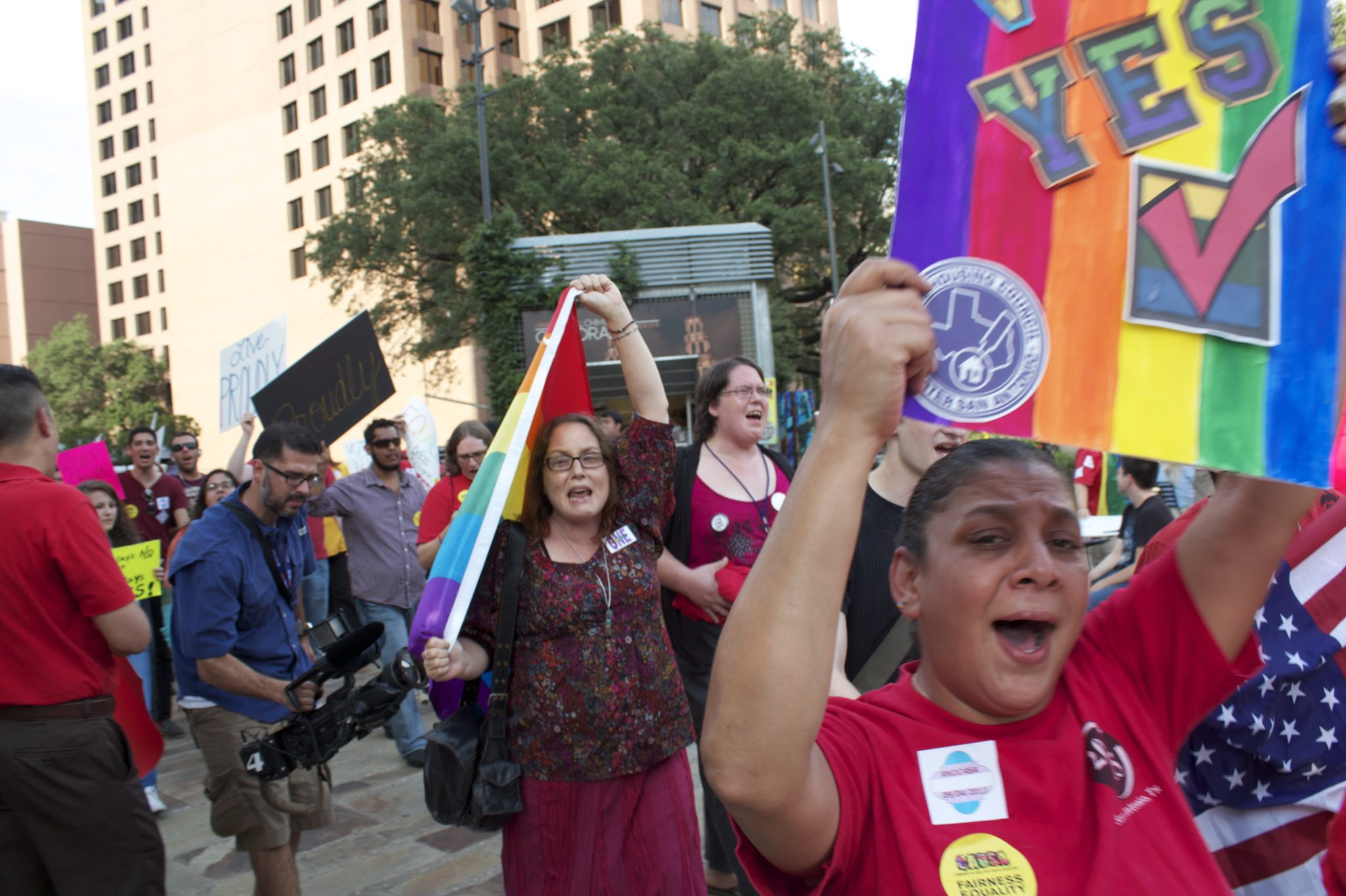 A September march in favor of San Antonio's non-discrimination ordinance.