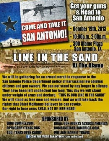 """Line in the Sand"" rally at The Alamo"