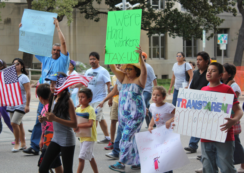 March for Immigration reform in Austin