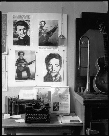 Woody Guthrie memorabilia at the Woody Guthrie Folk Music Center in Pampa.