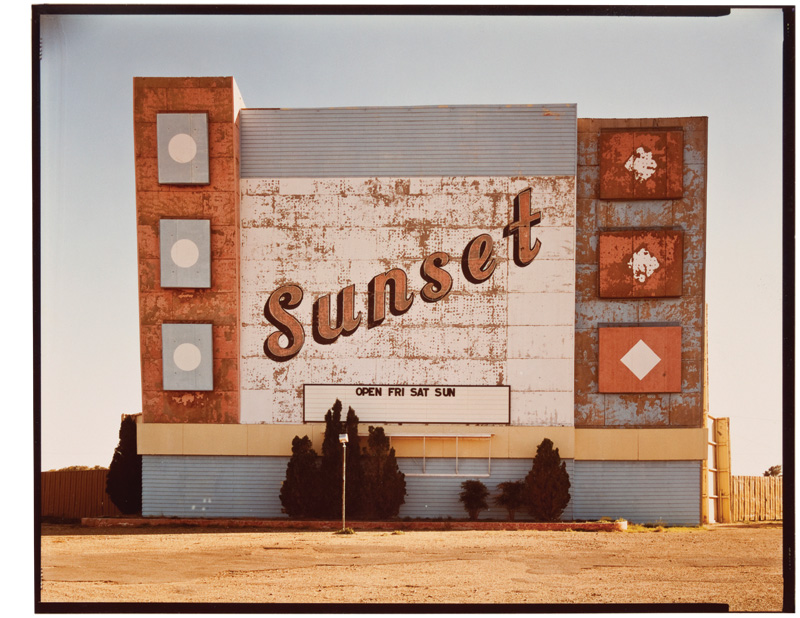 """""""West 9th Avenue, Amarillo, Texas, October 2, 1974"""" Dye coupler print, 8 x 10 in.  Photo Courtesy of the artist and 303 Gallery, New York"""
