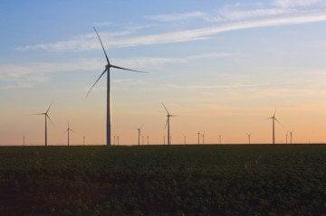 A wind farm near Amarillo