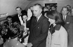 President Johnson sworn in