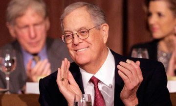 The State Policy Network has an annual warchest of $83m drawn from major donors like David Koch, above, and food giant Kraft.