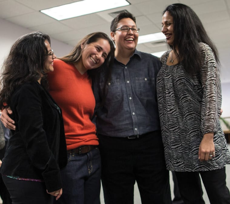 Elizabeth Ramirez, Anna Vasquez, Kristie Mayhugh and Cassandra Rivera (L to R) remain close despite the many years they spent apart in prison.