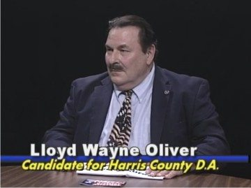 A screen shot of Lloyd Oliver from an episode of