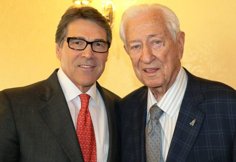 US Representative Ralph Hall, right, with Governor Rick Perry