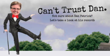 The header from Lt. Gov. David Dewhurst's new attack site