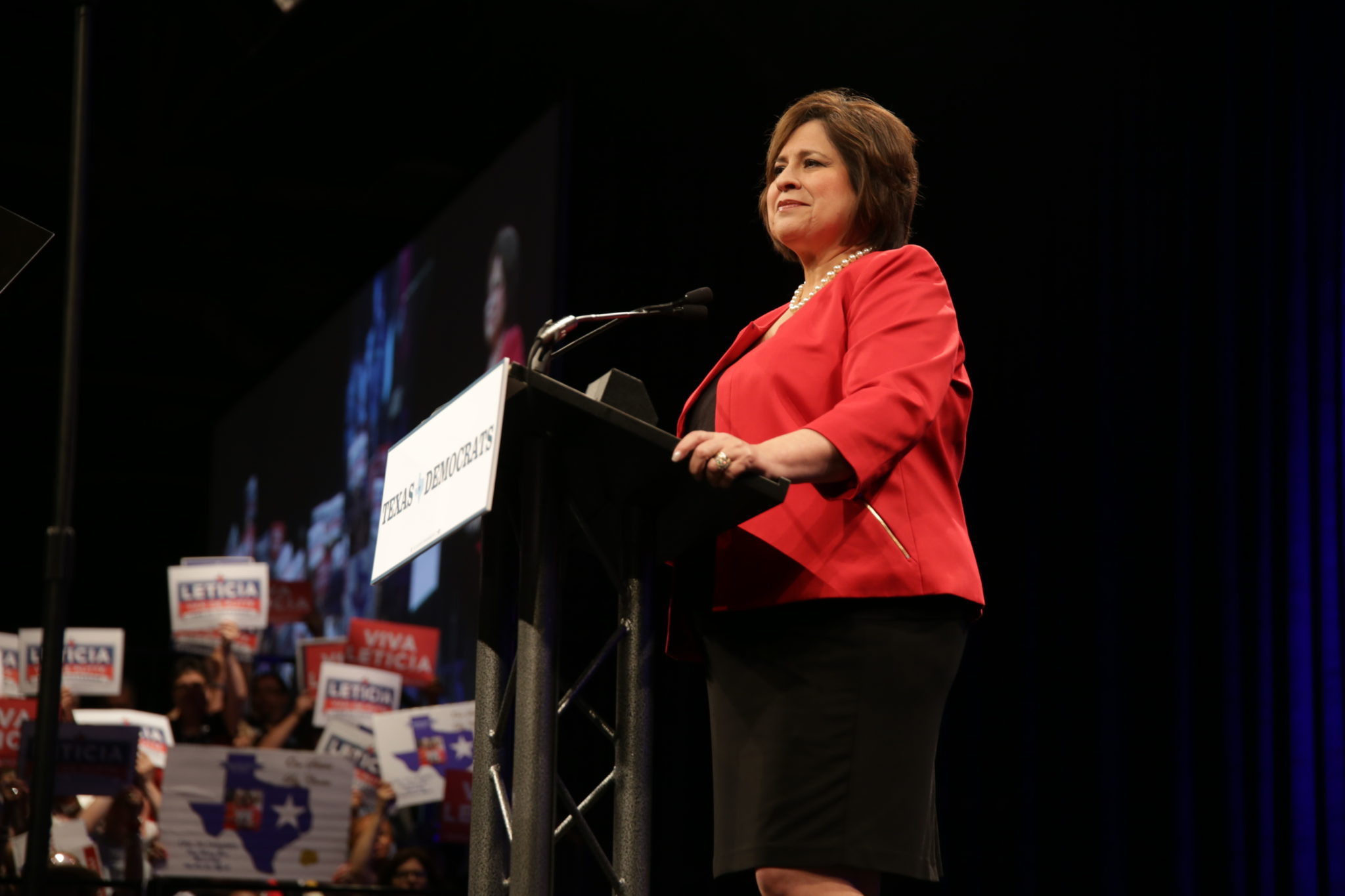 State Sen. Leticia Van de Putte speaks at the 2014 Democratic state convention in Dallas.