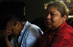 Joel and Estela Acosta in their home a few days after receiving an eviction notice.