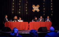 From L to R: Forrest Wilder, state Rep. Donna Howard (D-Austin), Quorum Report's Harvey Kronberg, Texas Monthly senior editor Erica Grieder, Chris Hooks and state Rep. Jason Villalba (R-Dallas).