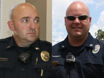 Former Jasper Police officers Ricky Grissom and Ryan Cunningham