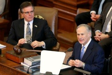 Governor Greg Abbott issues his first-ever State of the State address in February 2014. Nearly a year later, the state of the state seems to be more of the same: constant campaigning and little meaningful change behind the scenes in the Legislature.