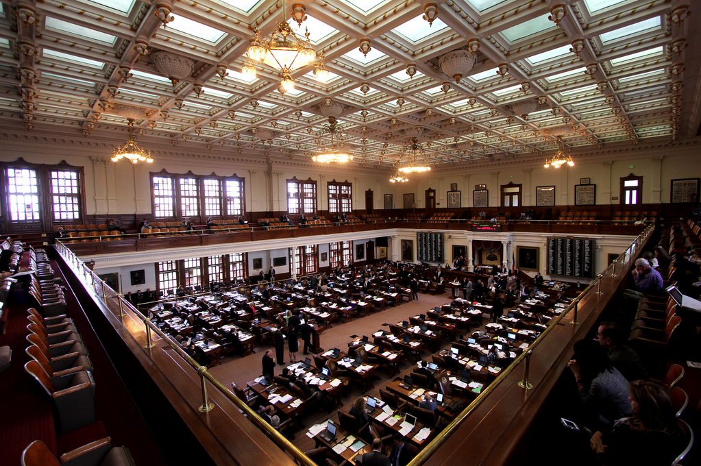 The Texas House in session on April 4, 2013.