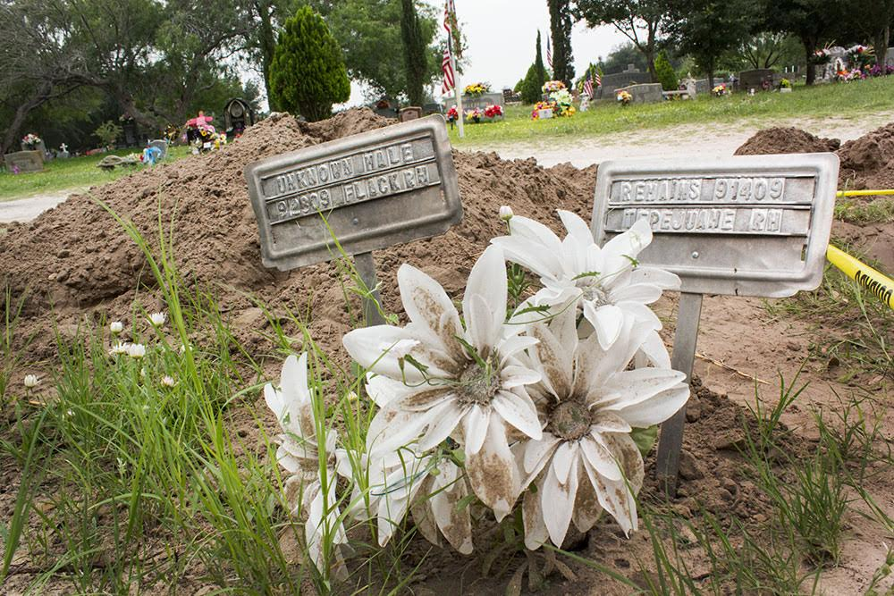 The Sacred Heart Cemetery in Brooks County is where many of the unidentified remains of migrants are buried.
