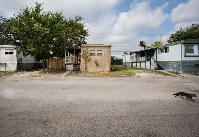 The North Lamar Community Mobile Home Park in Austin.