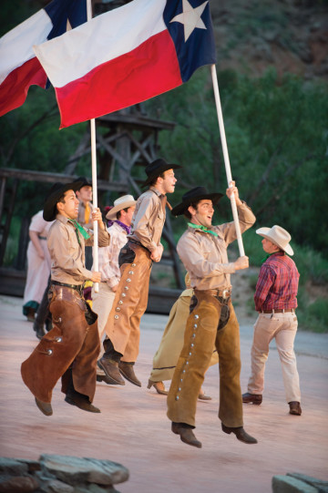 Dancers in the musical Texas