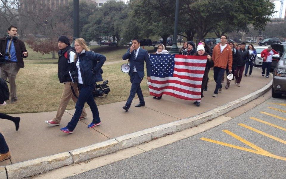 DREAM Act Students Rally at the Texas Capitol.