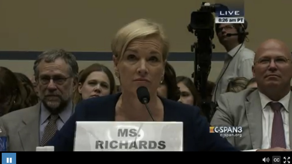 Cecile Richards offered testimony about Planned Parenthood's medical operations to lawmakers on Capitol Hill Tuesday morning.