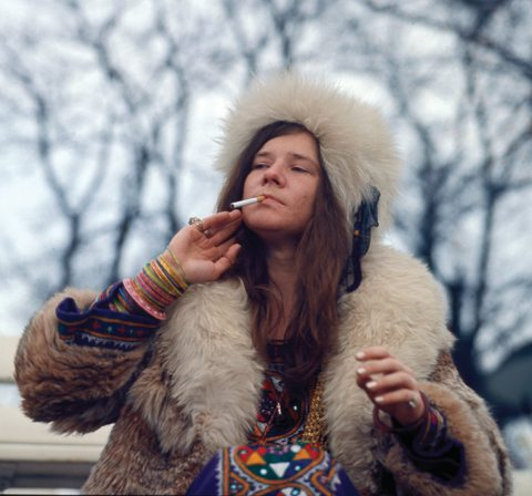 Janis Joplin in Denmark in April 1969.