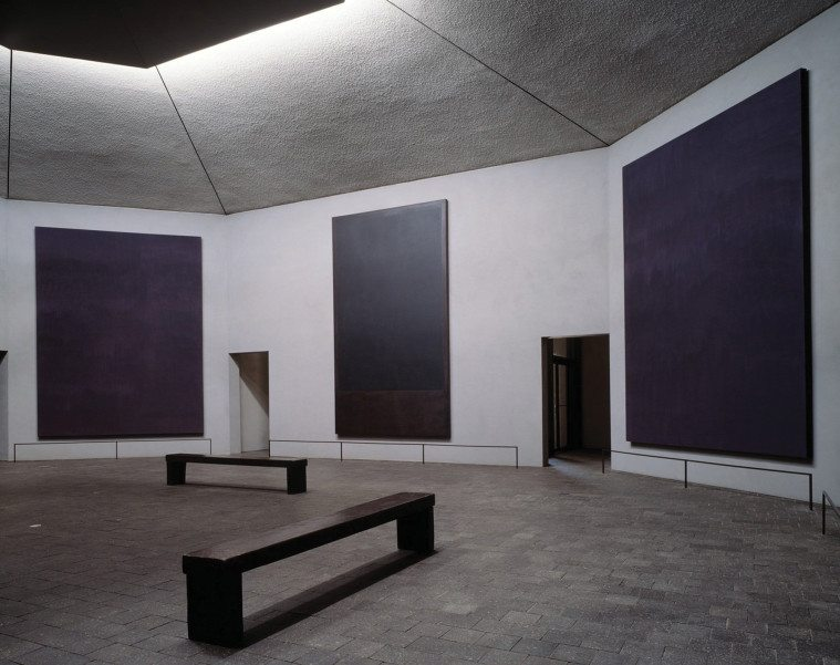 Interior of the Rothko Chapel