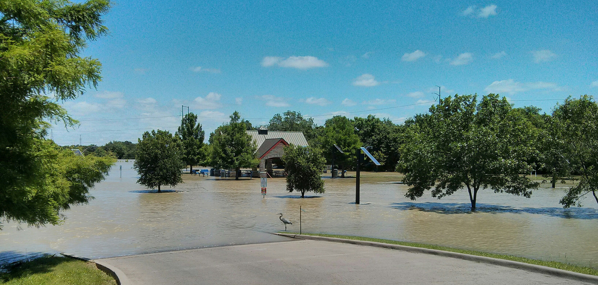 Flooding in Irving from the West Fork of Trinity River